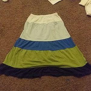 White blue girls crazy 8 skirt